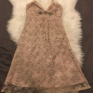 Shimmery Champagne Guess Party Dress